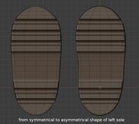 Ellie boot sole progression - retopo