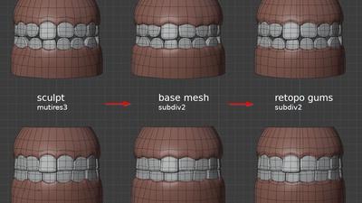 Victoria teeth - retopo