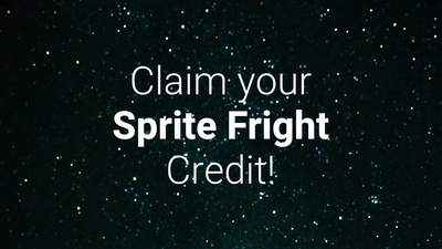 Claim Your Sprite Fright Credit!