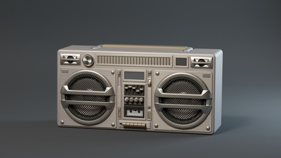Boombox - Base Shading - Studio