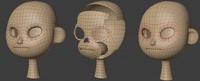 Ellie head progression - retopo