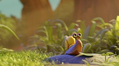 Snail on rock lookdev