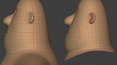 Phil head, side - retopo