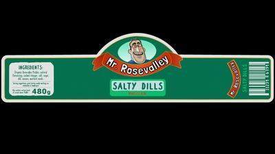 Salty Dills Label
