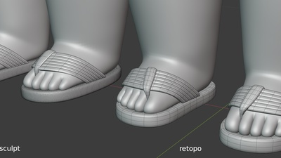 Phil sandals fit to feet - retopo