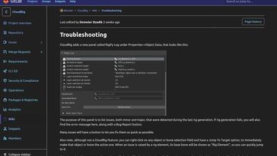 CloudRig: Troubleshooting module