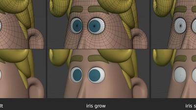 Rex eyes, pass 2 - iris shape keys