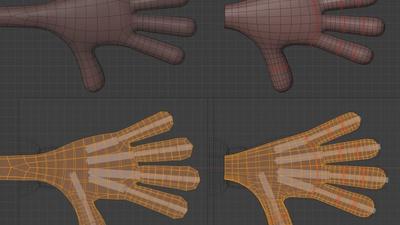 Jay hand, top - retopo