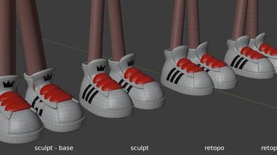 Jay shoes - retopo