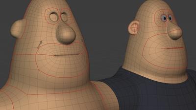 Phil head, 3q - retopo