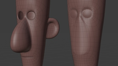 Jay rig helper face mesh - retopo