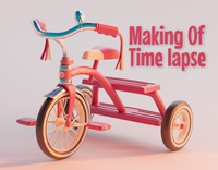 Timelapse: Modeling and shading a children's tricycle