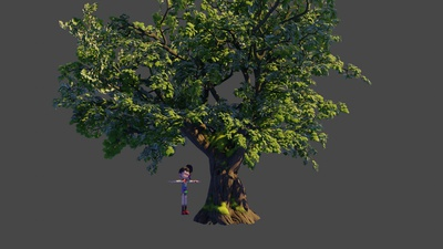 Oak tree 1: Adding branches from the library