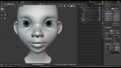 Modelling the inner Head & transferring Details