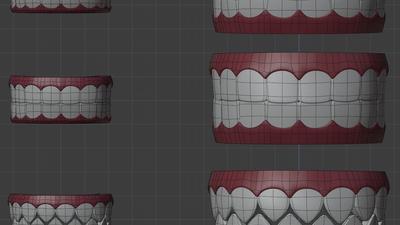 Elder Sprite teeth shape keys - mesh re-use