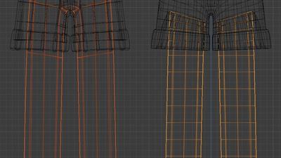 Ellie trousers, wire  - retopo