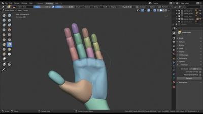 Sculpting the Planar Hands & Feet