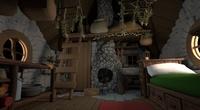 Hut Interior - More modeling & shading