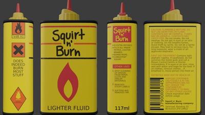 Lighter Fluid Packaging Label