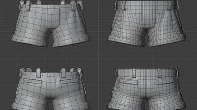 Rex shorts - retopo