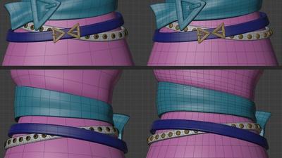 Victoria belts - retopo