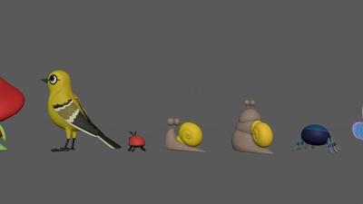 Animal Lineup - Bird Sculpting