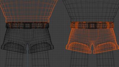 Rex clothing inner geometry - retopo