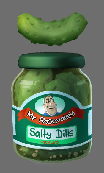 Pickle Jar and Pickle design