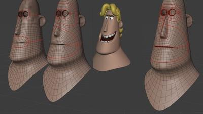 Rex facial pass 2 - retopo