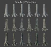 Alpha WIP 12 - Beta Feet Variations