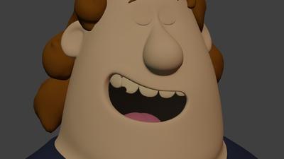 Phil facial: smile open