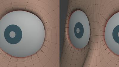 Rex eyes, pass 2 - eyelids reshaped