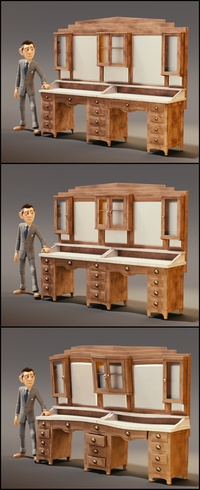 Proportion and style experiments with the dresser