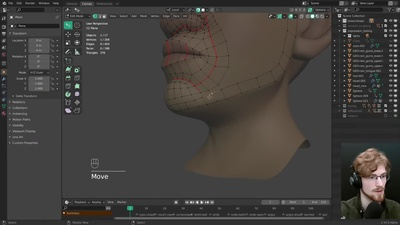 Live: Facial Retopology