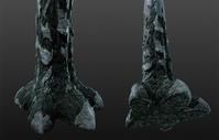 Alpha WIP 08 - Feet Texturing and Sculpting