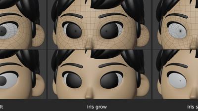 Ellie eyes, pass 2 - iris shape keys