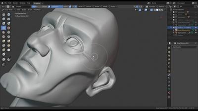 Stylising the Head Sculpt