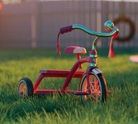 Vintage kid's tricycle render