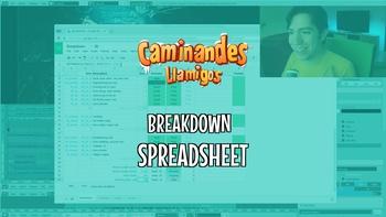 Breakdown Spreadsheet