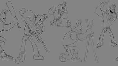 Rex Expressions & Pose Drawings