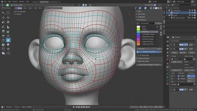 Facial Retopology - Creases & Tweaking
