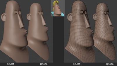 Rex 'mouth_uu' shape key - retopo