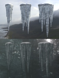 Icicle Assets Material Test 02