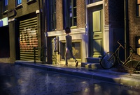 barbershop exterior - morning light