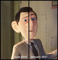 Agent character progress (June 2016 - Jan 2017)