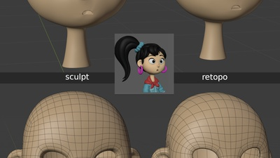 Ellie 'mouth_uu' shape key - retopo