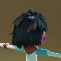 Ellie hair grooming 01 - cut hair