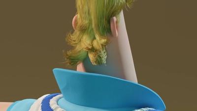 Rex hair grooming - distressed