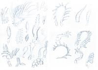 Creature Design: Various antenna shapes