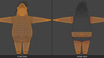 Phil body under clothing - retopo